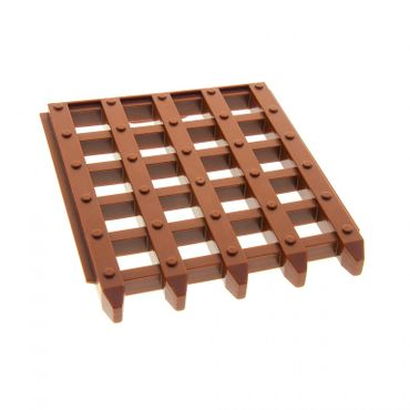 1 x Lego brick reddish brown Duplo Door Sliding Grille 6 x 7 for Set 4864 4777 51702