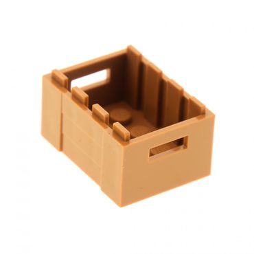 1 x Lego brick medium dark flesh Container Crate with Handholds Set 75825 75824 75826 70738 41108 79111 6035734 30150