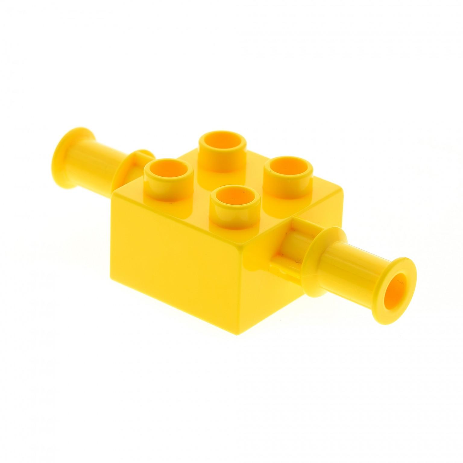 1 X Lego Brick Yellow Duplo Brick 2 X 2 With Digger Bucket Arm