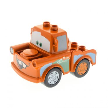 1 x Lego brick Dark Orange Duplo Car Body 2 Top Studs Truck with Cars Tow Mater Pattern 4580565 88760 88762c01pb04 88764pb01
