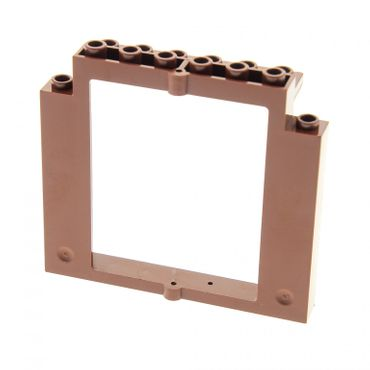 1 x Lego brick reddish brown Door Frame 2 x 8 x 6 Swivel without ...