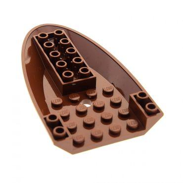 1 x Lego System Flugzeug Rumpf Front reddish braun 6x10 nach vorn gebogen 6 x 10 Unterseite mit 3 Löchern Set 7959 41150 4625366 87611