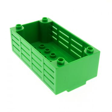 1 x Lego brick bright green Duplo Container Box 4 1/2 x 8 with Studs on Corners Set  6172 98191