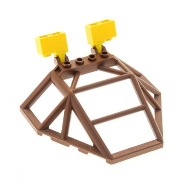 1 x Lego brick Brown Windscreen 10 x 14 x 2 2/3 Roll Cage with 2x Yellow Hinge Brick 1 x 2 Locking with 1 Finger Top Set 4980 989 30298