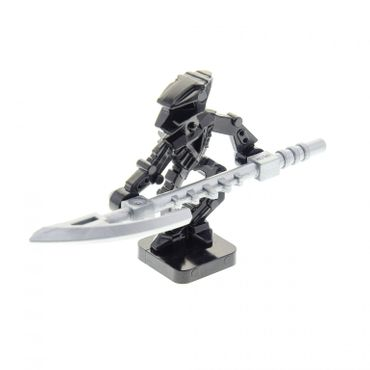 1 x Lego brick black Bionicle Mini - Toa Hordika Whenua with flat silver Minifig, Weapon Bionicle Mini Staff (Whenua) for Set 8759 8758 8757 8769 51663 51635