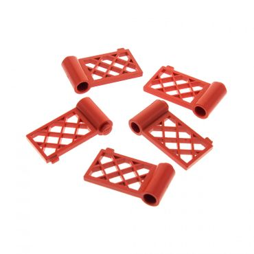 5 x Lego bricks red Fence Gate 1 x 4 x 2 3186