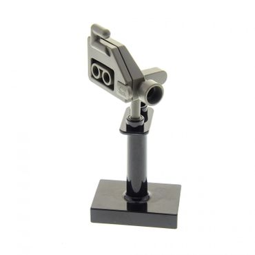 1 x Lego brick Dark Gray Duplo Utensil Video Camera with  black Duplo Support 2 x 3 x 3 with 2 Top Studs 41969  6504