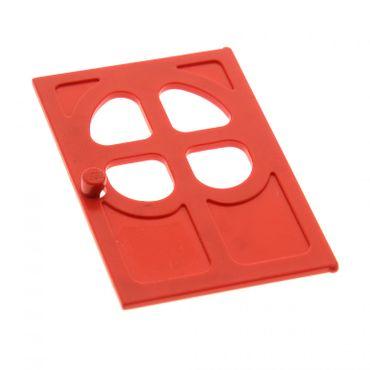 1 x Lego System Fabuland Tür Blatt rot 1x6x7 mit 4 Fenster abgerundet Set 3681 3667 3673 3668 3678 4072