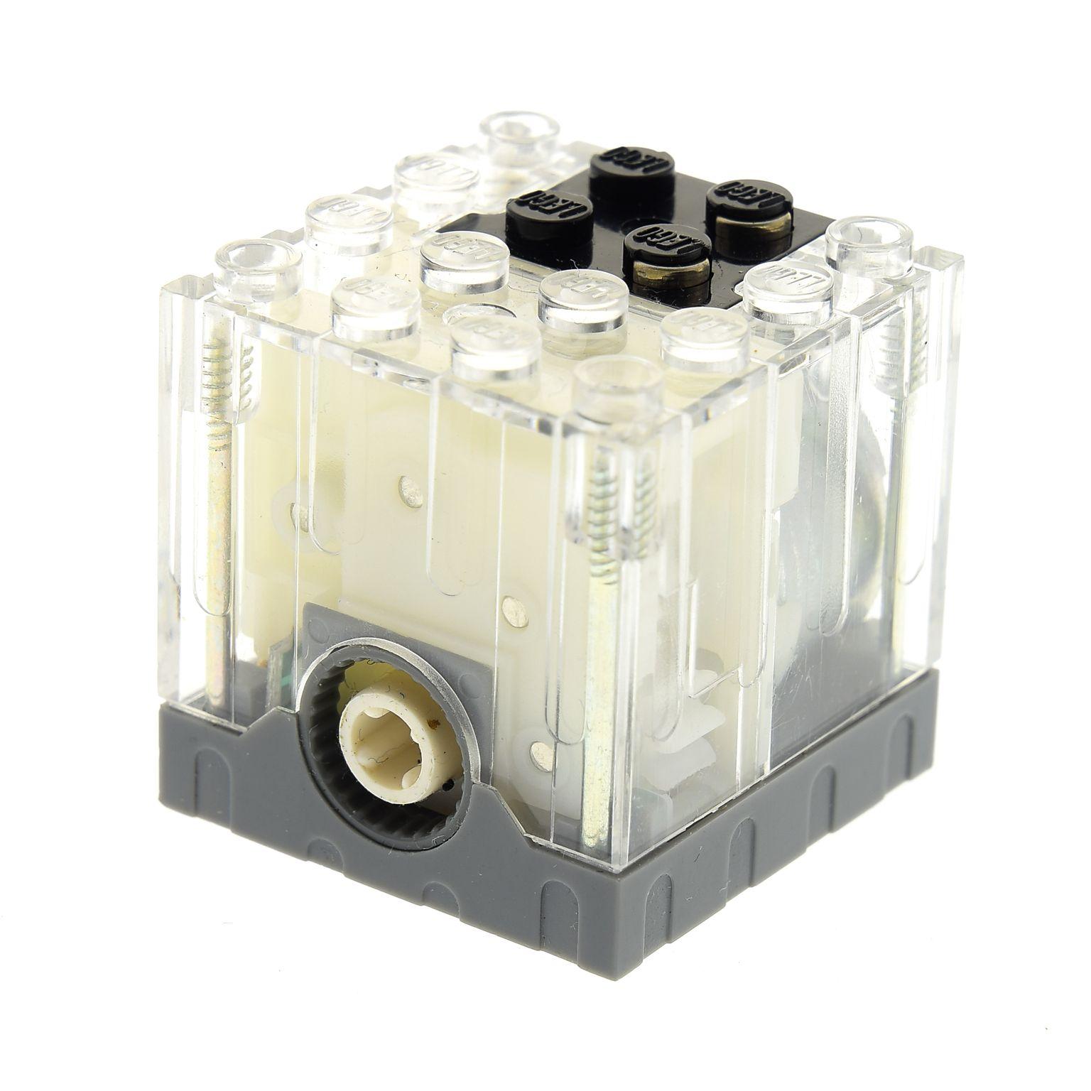 1 X Lego Brick Trans Clear Electric Motor 9v 4 X 4 X 3 13 Motor Is