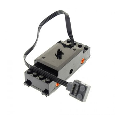1 x Lego brick Black Electric Train Motor 9V RC Train with Integrated PF Attachment Orange Wheel Holders (motor only no attached wheels) for Set 60052 60098 7938 3677 87574c01