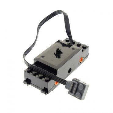 1 x Lego Electric Motor 9 V schwarz Zug Eisenbahn RC mit Kabel Rad Halter orange geprüft Set 60052 60098 7938 3677 87574c01