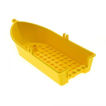 1 x Lego System Boot gelb 18x8x2 Ruderboot Belville 5848 33129