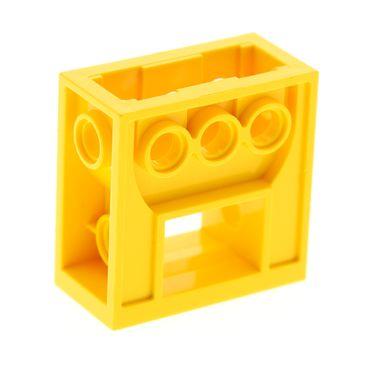1 x Lego Technic Getriebe Halter gelb 2x4x3 1/3  Zahnrad Box Gearbox 6588 32239
