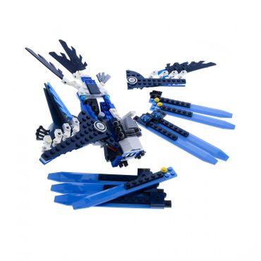 1 x Lego System Teile Set Modell Legends of Chima 70003 Eris' Eagle Interceptor Adler Abfangjäger blau weiss incomplete unvollständig