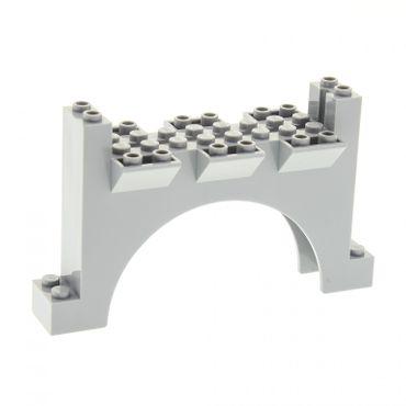 1 x Lego System Bogen Tor neu-hell grau 2 x 12 x 6 Mauerteil Mauer Wand Zinnen Turm Burg Castle für Set 8781 7094 10176 30272