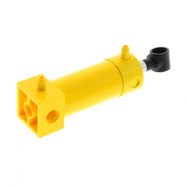 1 x Lego brick yellow Pneumatic Cylinder with 2 Inlets Medium (48mm) with yellow Top Set 8862 8854 2793c02