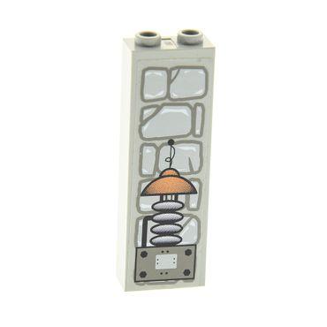 1 x Lego System Stütze alt-hell grau  1x2x5 Sticker Steine elektrisches Gerät  Basic Bau Stein Säule Pfeiler Wand Mauer Set 1382 2454pb013