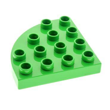 1 x Lego Duplo Bau Platte rund Ecke 4x4 bright hell grün Viertelkreis Set 6132 98218