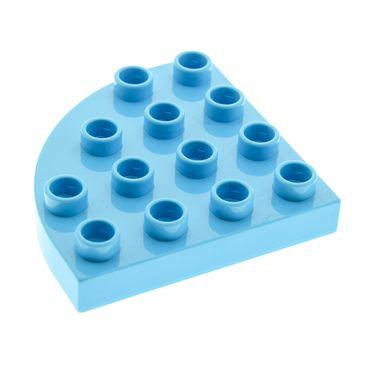 1 x Lego brick Medium Azure Duplo Plate Round Corner 4 x 4 Set 10514 10512 10513 10526 10604 6033051 98218