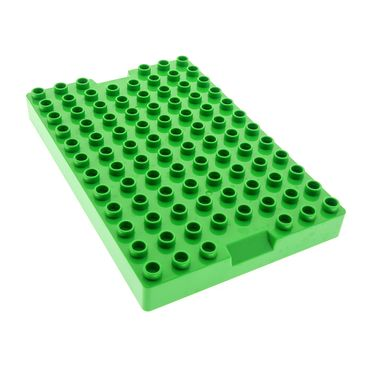 1 x Lego Duplo Bau Basic Platte bright hell grün 8x12 Deckel Container Top Set 10517 5931 93607