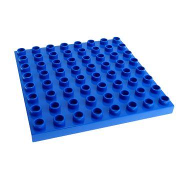 1 x Lego Duplo Bau Basic Platte B-Ware abgenutzt blau 8x8 Noppen Wasser Zoo Puppenhaus 6158 4988 4961 9229 4246956 51262