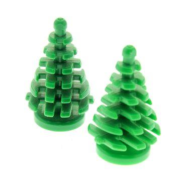 2 x Lego brick Green Plant Tree Pine Small 2 x 2 x 4 2435