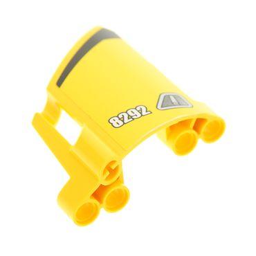 1 x Lego Technic Panele gelb Verkleidung 23 Seite B gross kurz kleines Loch Fairing # 23 Side B mit Sticker Tür Griff  für Set 8292  44353pb17