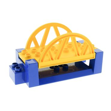 1 x Lego brick blue Duplo Bridge Base 4 x 8 yellow orange Duplo Bridge Top 4 x 8 Set Brick Runner 3267 2281 9067 31207 31208