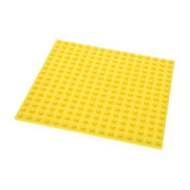 1 x Lego System Bau Platte bright hell gelb 16x16 Noppen beidseitig bespielbar Set 41006 6035620 91405