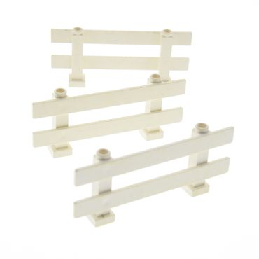 3 x Lego brick cream White Fence 1 x 8 x 2 2/3 Picket 6079
