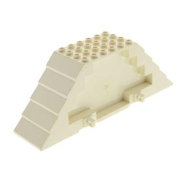 1 x Lego brick cream white Roof Piece 16 x 4 x 5 45405