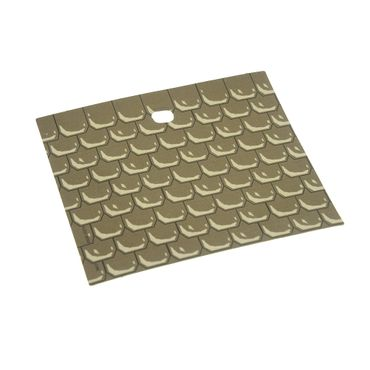1 x Lego brick dark gray Paper, Plastic Laminated, for Set 4709, 9 x 10 with Shingle Pattern and Hole x214px1