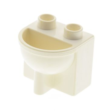 1 x Lego brick cream white Duplo Furniture Bathroom Sink 4892