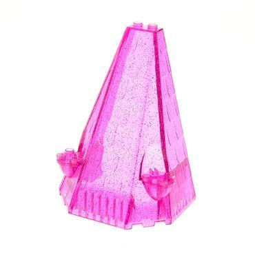 1 x Lego brick Glitter Trans-Dark Pink Tower Roof 6 x 8 x 9 Belville 5808 7577 5850 42000 10487 33215