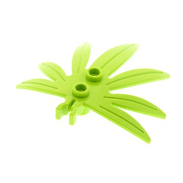 1 x Lego brick lime Plant Leaves 6 x 5 Swordleaf with Clip 30239