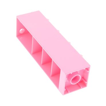 1 x Lego brick bright pink Duplo Building Wall 2 x 2 x 6 with Drawer Slots on One Side and Eight Hinges on the Other 10500 6021185 87322
