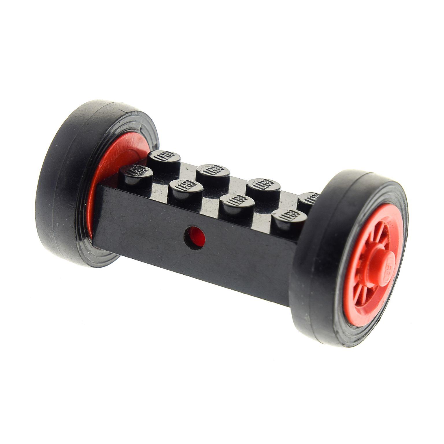 1 x lego system achse 2x4 mit rad r der felge speichen 2x2. Black Bedroom Furniture Sets. Home Design Ideas