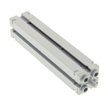 1 x Lego brick light bluish gray Support 2 x 2 x 8 with Grooves and Top Peg, Smooth on All Sides 30646b