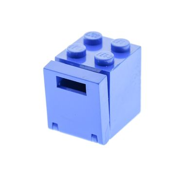 1 x Lego brick blue Container Box 2 x 2 x 2 - Solid Studs with blue Container Box 2 x 2 x 2 Door with Slot  4346 4345a
