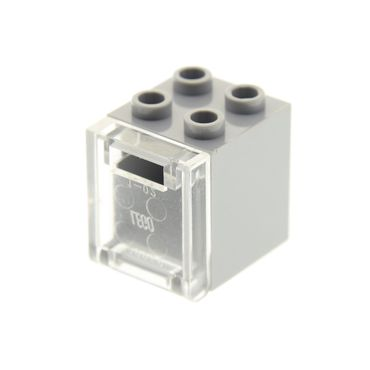 1 x Lego brick light bluish gray Container, Box 2 x 2 x 2 with trans-clear Container, Box 2 x 2 x 2 Door with Slot 30060 4346 4345