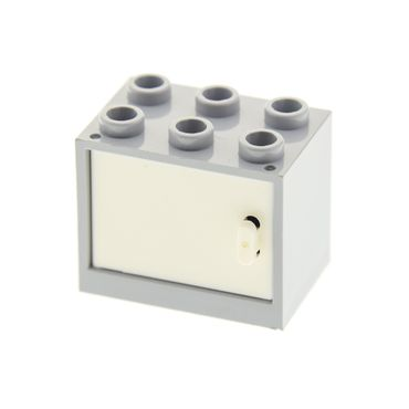 1 x Lego brick light bluish gray Container, Cupboard 2 x 3 x 2 with white Door 4533 92410 4532