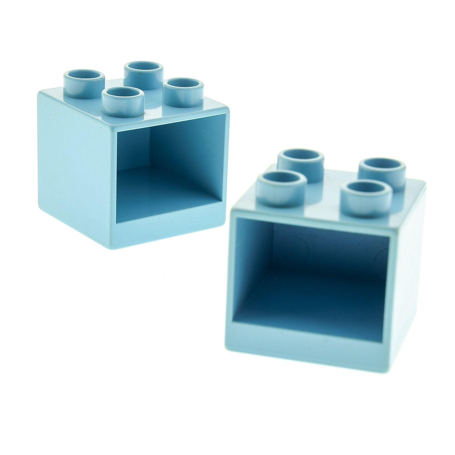 2 X Lego Brick Light Blue Duplo Furniture Cabinet 2 X 2 X 1 5 With