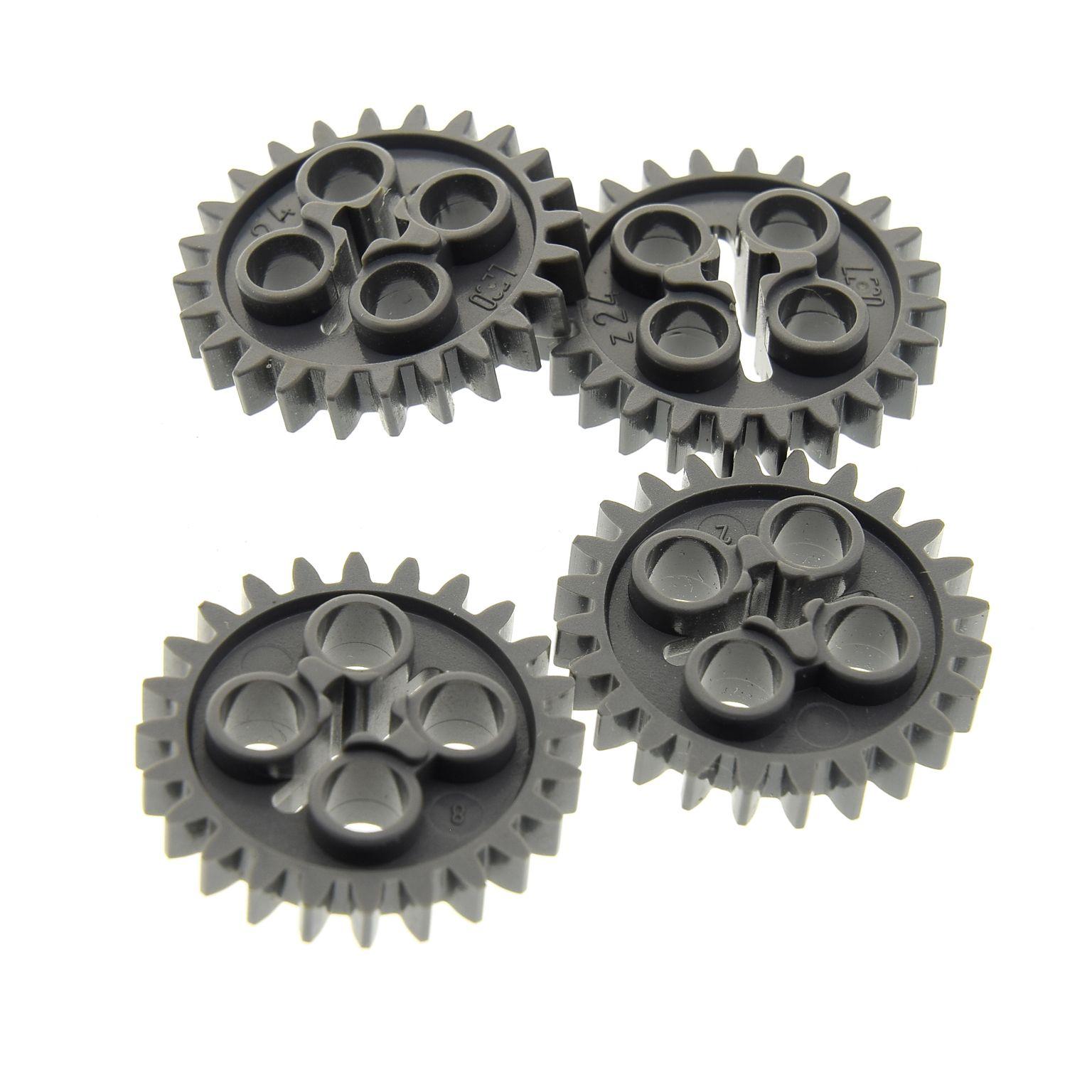 4 X Lego Technic Zahnrad Neu Dunkel Grau Z24 Zahnräder Zähne Rad