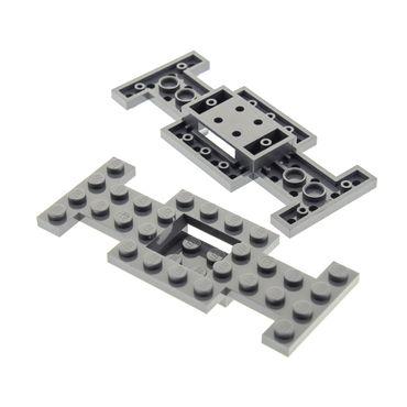2 x Lego System Fahrgestell neu-dunkel grau 4 x 10 x 2/3  LKW Unterbau Platte Chassis 4212b