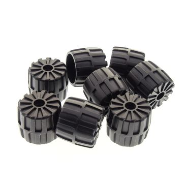 8 x Lego System Hart Plastik Rad schwarz 35 mm D. x 31 mm Räder Mond Space M-Tron Unitron Blacktron Auto Fahrzeug 6896 1787 6851 2593