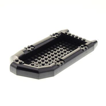 1 x Lego brick black Boat Rubber Raft Large Set 8899 Gator Swamp 4579149 62812