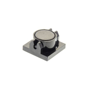 1 x Lego brick black Magnet Holder Tile 2 x 2 - Tall Arms with Deep Notch with black Magnet Cylindrical 4502266 73092 2609b