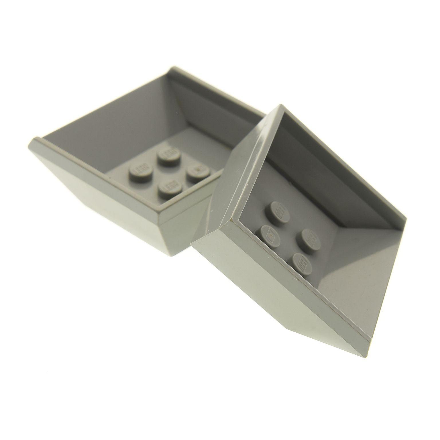2 x lego system kipper auflage alt hell grau 4x6. Black Bedroom Furniture Sets. Home Design Ideas