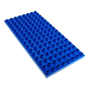 1 x Lego Duplo Bau Basic Platte B-Ware beschädigt blau 16 x 8 Noppen 8x16 für Set Burg Ritter 4776 Polizei Station 4965 9229 61310 6490