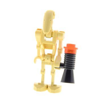 1 x Lego System Figur Droide beige Star Wars Battle Kampf Droid mit 1 Arm gerade mit Waffe old Gun 30377 59230 30376 30378 30375 sw001c